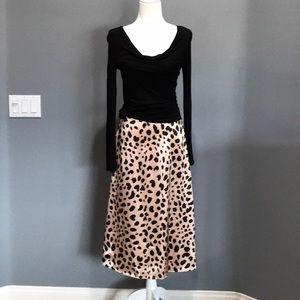 Leopard skirt.